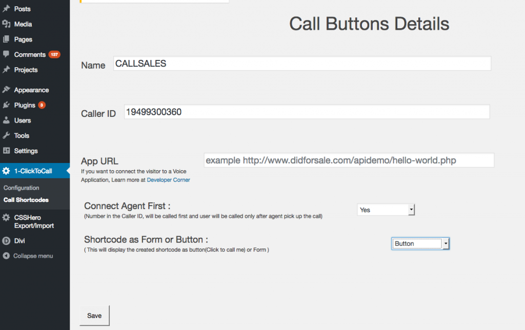 Click-To-call-shorcode