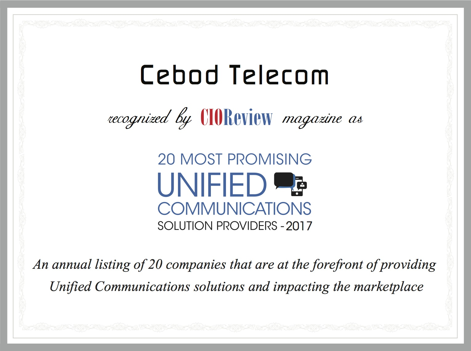 20 most promising unified communication provider