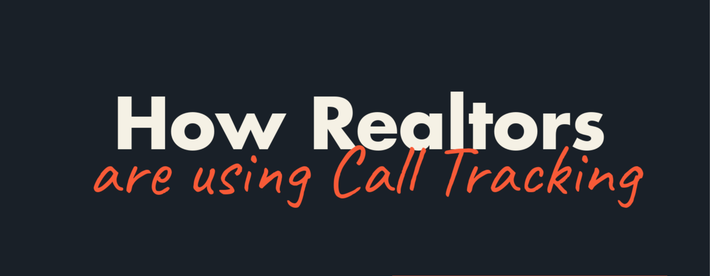 Call Tracking for Realtors