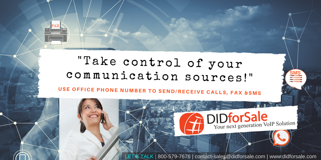 Send Receive Phone Calls, SMS and Fax from office phone number