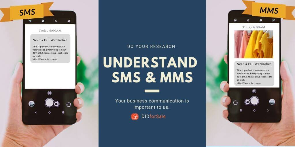 Understand the difference between MMS and SMS